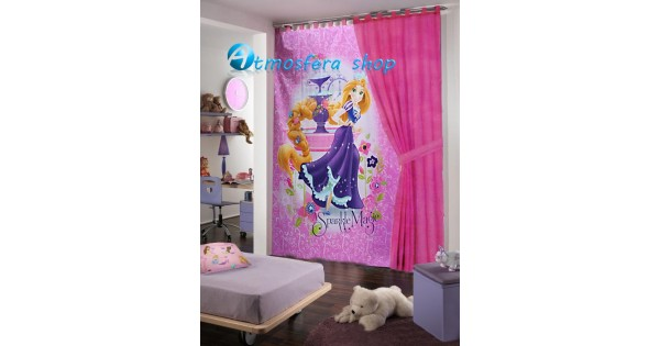 Cameretta Disney Principesse : Tenda principessa rapunzel disney in cotone