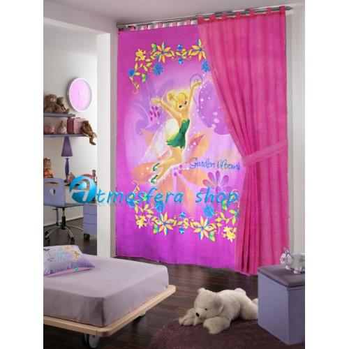 Tenda disney fairies trilli fatina in cotone - Tende per camerette disney ...