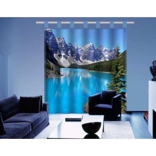Tenda paesaggio lago montagna in cotone