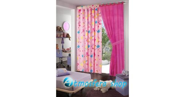 Tenda Letto Carrozza Principesse Disney : Tenda principesse disney in cotone con asole fondo rosa